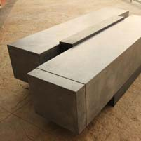 Stylish concrete block bench demonstrates the value of workshops
