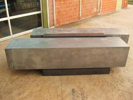 Cast Concrete Bench Using GFRC Face and Backer Mix