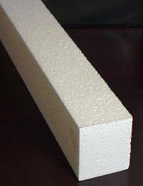 concrete counter-top forming foam rails