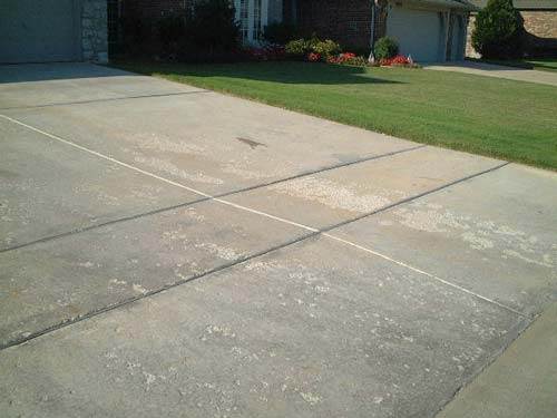 spalled concrete driveway repair