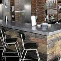 Concrete Counter-tops in Restaurant and Bar