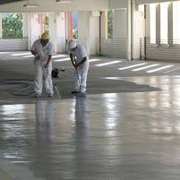 Parking Garage Concrete Restoration – New Broom Finish Overlay