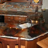 How to Stain a Concrete Counter Top – using Eco-Stain