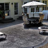 Contemporary Look for Outdoor Stamped Concrete Patio