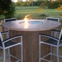 Concrete Table With Fire Pit