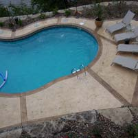 Stamped Concrete Pool Surrounds with Scenic Lake View – Missouri