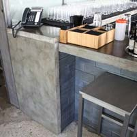 Concrete Tables and Bar Tops a Highlight in Chicago Restaurant