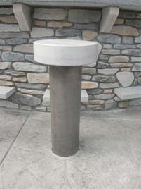 Outdoor Concrete Bar Top and Stools Made to Weather