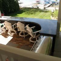 Massive Custom Terrazzo Countertop for Outdoor Kitchen, Indiana
