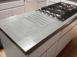 Gray Concrete Kitchen Countertop