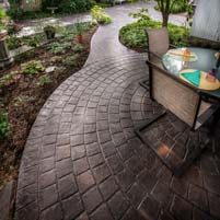 Stamped Concrete Enhances Curb Appeal to Bed and Breakfast Inn, Pennsylvania