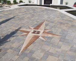Cast Concrete Compass Rose Outdoor Patio