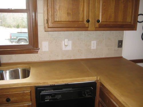 Beige Concrete Countertop Fabrication
