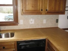 Beige Kitchen Concrete Countertop