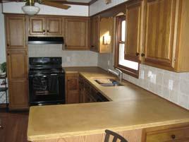 Beige Kitchen Concrete Countertop