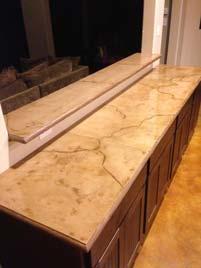 Veined Beige Travertine Concrete Countertop
