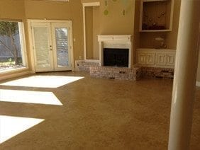 Homeowners Remodel to Have Striking Stained Concrete Floors, Houston