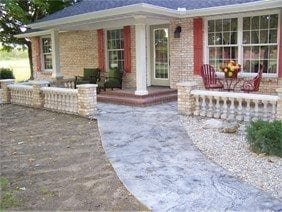 Concrete Front Porch Makeover Concrete Baluster Floor Designs