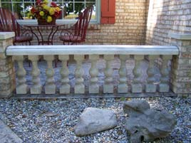 White Balusters GFRC Indiana Porch