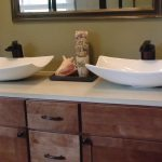 1 inch white concrete countertop