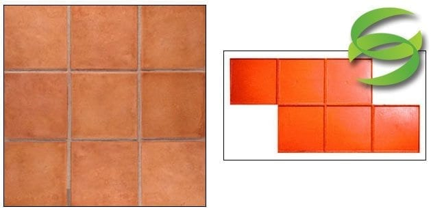 12in Satillo Tile Mexican-Tile-with-Sand-Grout Line Stamp Mat for Concrete
