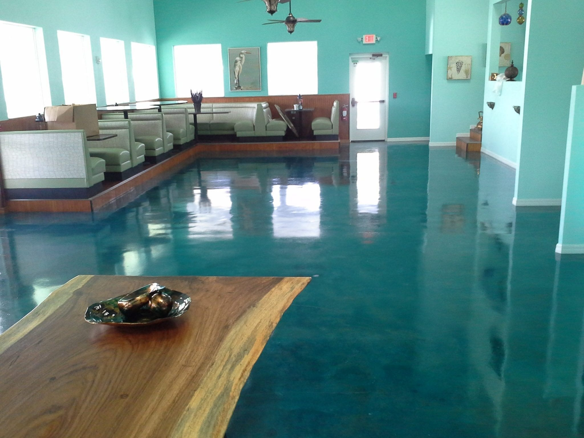 Restaurant Epoxy Metallic Floor System