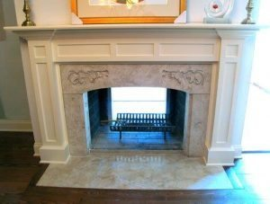 Light Brown Concrete Fireplace Cast With GFRC Concrete Mix