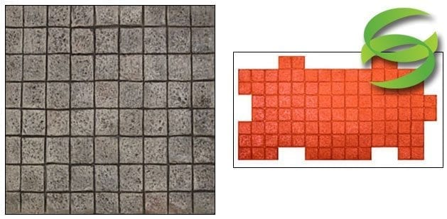 4in Flamed Granite Tile Gang Tool Stamp Mat for Concrete