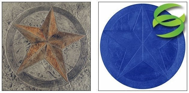 5 Point Star Medallion Concrete Stamping Mat