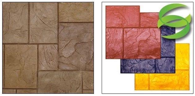 Ashlar Roman Slate Stamp Mat