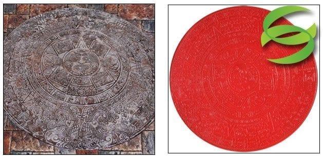 Aztec Calendar Concrete Stamping Mat