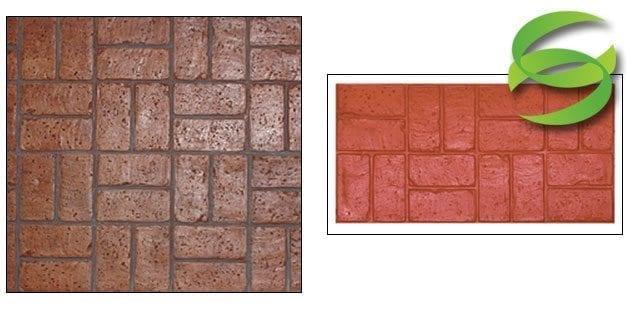Basketweave Used Brick Surecrete Products