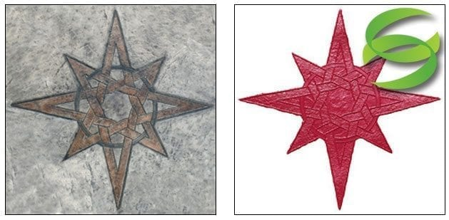 Celtic Compass Star Concrete Stamping Mats