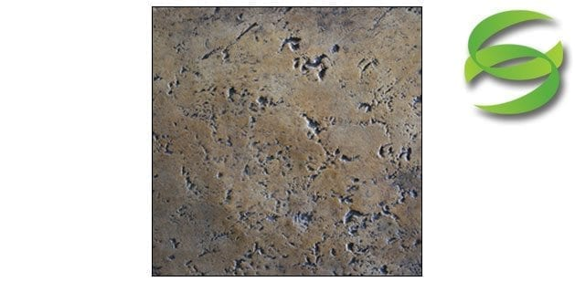 Coarse Groutable Travertine Concrete Stamping Skin