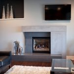 Moderns Light Gray Fireplace Made From Concrete Casting Products