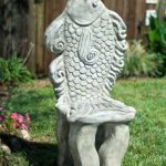 Cast Concrete Outdoor Fish Chair