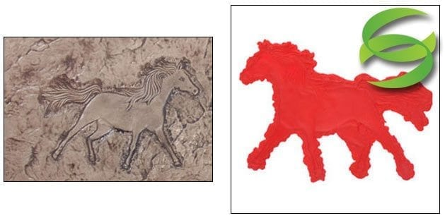 Equestrian Series Horse Right Concrete Stamping Mat