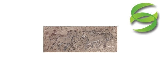 Equestrian Series Set of Horses Left Right Concrete Stamping Mats