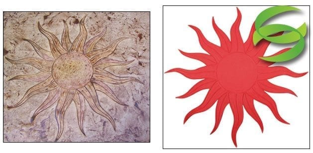 Flaming Sun Concrete Stamping Mat