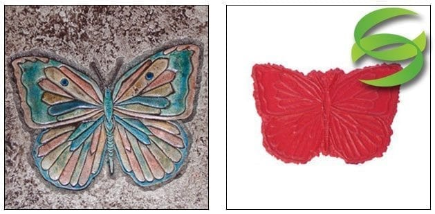 Garden Series Butterfly No1 Large Concrete Stamping Mats