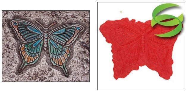 Garden Series Butterfly No2 Concrete Stamping Mats