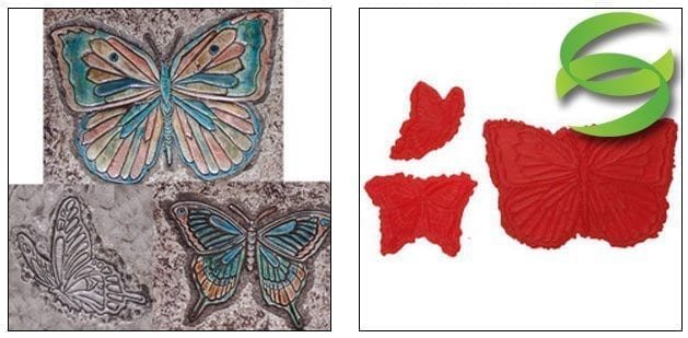 Garden Series Set of 3 Butterflies Stamp Mats