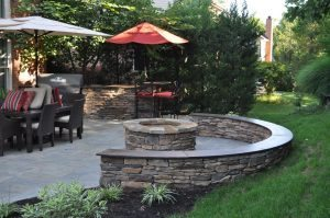 Harring Contractors Indiana - Concrete bench and countertop