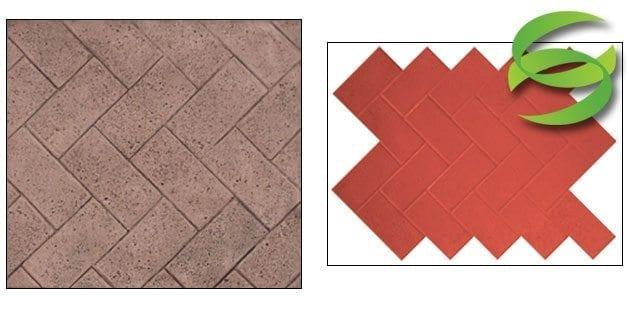 Herringbone Paver Stamp Mat