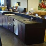 Black Concrete Countertop with Curved Front Edge