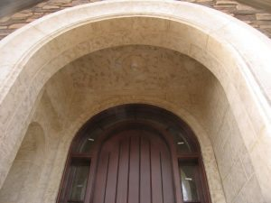Large Architectural Accent Doorway Made From Concrete GFRC Panels