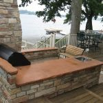 Large Brown Concrete Countertop for Outdoor Kitchen