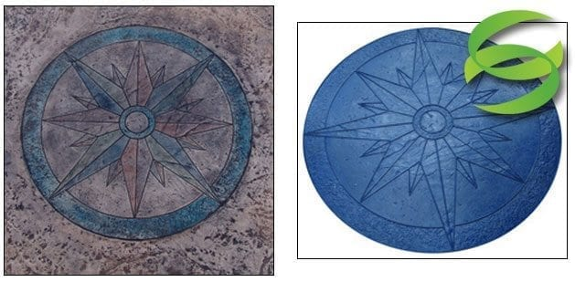 Nautical Star Medallion Concrete Stamping Mat