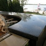 High Gloss Outdoor Kitchen Counter Top