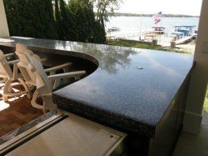 High Gloss Outdoor Kitchen Counter Top